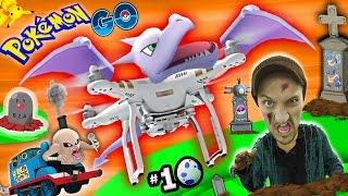POKEMON GO in a GRAVEYARD!  Drones, Trains, Eggs & Thangs! (FGTEEV Part 10 Gameplay w/ Thomas)