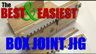 Woodworking: How to make the BEST and EASIEST box joint / finger joint jig.  FREE plans!