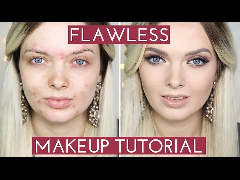 ACNE COVERAGE Flawless Foundation Makeup Tutorial   MyPaleSkin