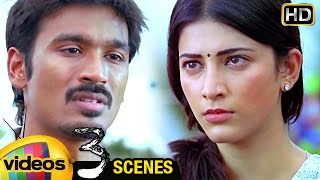 Shruti Haasan Argues with Dhanush about Marriage | 3 Telugu Movie Scenes | Sivakarthikeyan | Anirudh