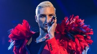 Rylan Clark sings Hung Up/Gimme Gimme Gimme Medley - Live Week 5 - The X Factor UK 2012