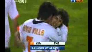David Villa's goal