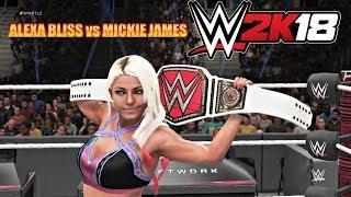 WWE 2K18 Gameplay   Alexa Bliss vs Mickie James (RAW Women