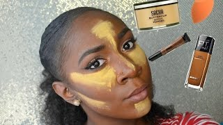 Darkskin | Highlight Contour + Flawless Foundation