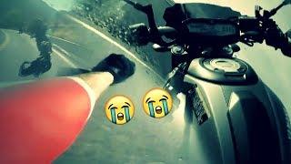 هالحادث يلي صار والله قضى عليي 😢# يبكي موت سائق دراجة نارية 😭 2018