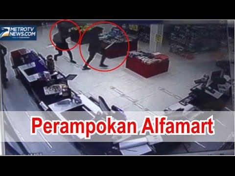 Aksi Rampok Minimarket Alfamart - Gasak 4 Motor dan isi Toko