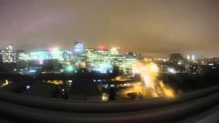 Zagreb at night 12.2015 - time lapse