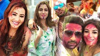 Bigg Boss 11 Full HOLI Party 2018 - Shilpa Shinde,Arshi,Vikas,Puneesh,Bandagi,Prince