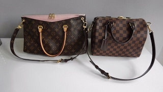 Louis Vuitton Pallas, What's in my bag, wear and tear and comparison to Speedy B 25!
