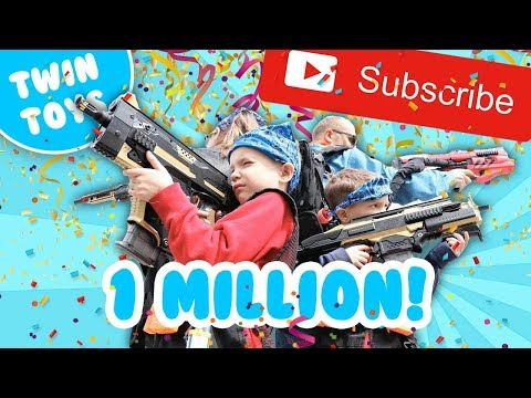 Nerf War One Million Subscribers