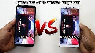 Samsung On8 Vs Redmi Note 5 Pro SpeedTest And Camera Comparison I Hindi