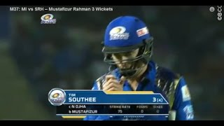 Mustafizur Rahman takes 3 wickets in IPL  VS Mumbai Indians || SRH vs MI || IPL 2016