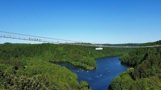Hängebrücke an der Rappbodetalsperre Weltrekord Harz Megazipline Doppelseilrutsche Pendelsprung Harz