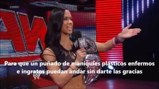 AJ Lee Pipe Bomb subtitulado español