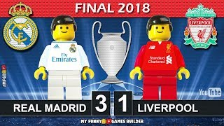 Champions League Final 2018 • Real Madrid vs Liverpool 3-1 • Kiev All Goals Highlights Lego Football