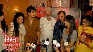 Shivangi Joshi & Mohsin Khan's PARENTS Visit Yeh Rishta Kya Kehlata Hai Sets