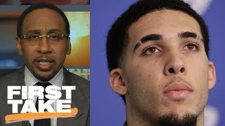 Stephen A. Smith says 'no way in hell' LiAngelo Ball gets drafted by NBA in June | First Take | ESPN