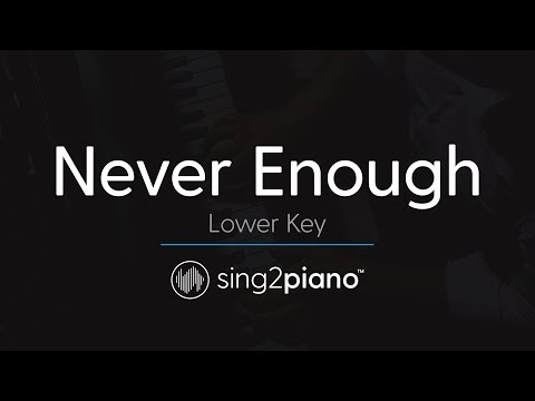 Never Enough (LOWER Piano Instrumental) originally by The Greatest Showman