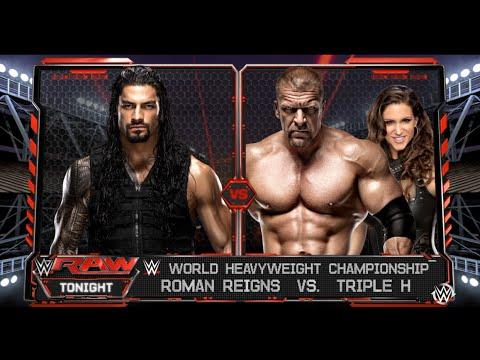 Roman Reigns vs.Triple H - WWE World Heavyweight Championship Match: Raw, WWE 2K16