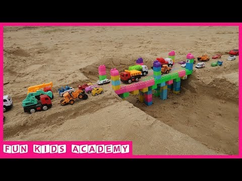 Xxx Mp4 Build A Bridge With Assembled Toys And Car Toys For Kids Videos For Children 3gp Sex