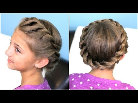 How to create a Crown Twist Braid Updo Hairstyles