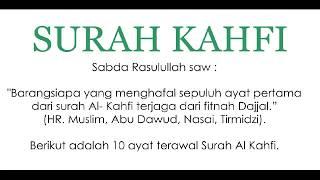 Surah Al Kahfi 10 Ayat Pertama - Pelindung Fitnah Dajjal Laknatullah