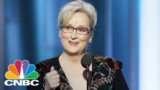 Meryl Streep Takes On Donald Trump At The Golden Globes | Squawk Box | CNBC