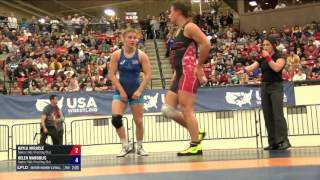 58 Round 1 - KAYLA MIRACLE (Sunkist Kids WC) vs. Helen Maroulis (Sunkist Kids WC)