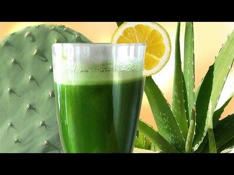 Cactus Aloe Smoothie the SUPER Longevity drink w Aloe Vera & Prickly Pear Nopales
