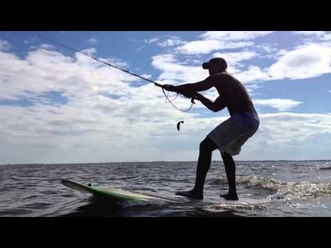 Stand Up Paddleboard (SUP) with a kite