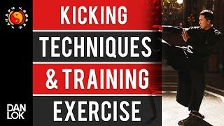 Wing Chun Kicking Techniques & Training Exercise