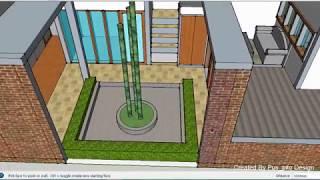 Desain Rumah Modern Minimalis Tanah kavling 6x12 Dengan Taman Luas di Dalam Rumah