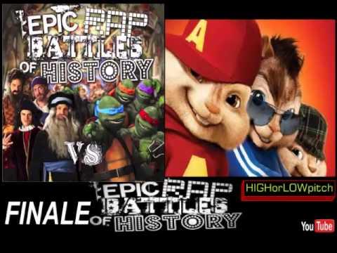 Artists vs Turtles. Epic Rap Battles of History Season 3 Finale. CHIPMUNKS' version
