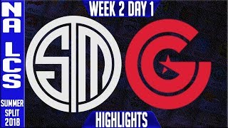 TSM vs CG HIGHLIGHTS | NA LCS Summer 2018 Week 2 Day 1 | Team Solomid vs Clutch Gaming Highlights