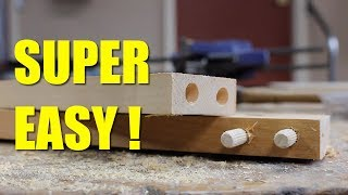 How To Make A Joint With Dowels Without A Jig.