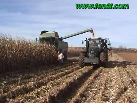 Demostracion cosechadoras FENDT diciembre 2008 YUNQUERA DE HENARES