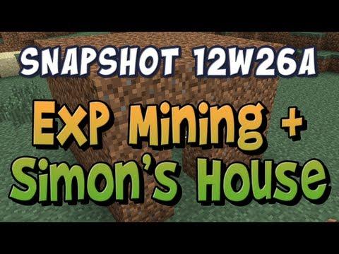 Mining Experience & Simon s House Snapshot 12w26a