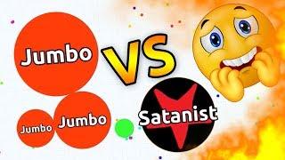 JUMBO VS THE BAD GUY ( Agar.io Solo Gameplay )