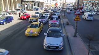 مسيرة الولاء والانتماء للتكسي المميز والأصفر في شوارع عمان