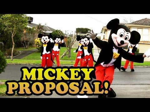 Mickey Mouse Proposal! (Jehan & Vish 2014)