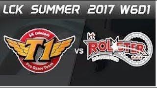 SKT vs KT Smeb LCK 2017 | KT vs SKT T1 Faker LCK Summer 2017 | SKTelecom T1 vs KT Rolster