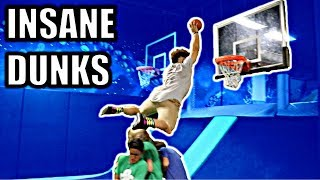 INSANE DUNK CONTEST IN WORLD'S LARGEST TRAMPOLINE PARK