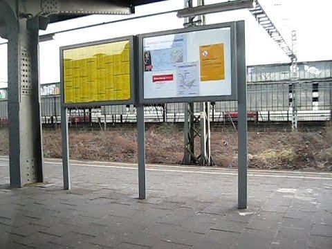 Wanne-Eickel HBF Ausfahrt Glückaufbahn RB 46 Abellio Rail Lint 41 Zug Mitfahrt