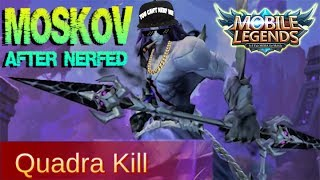 Mobile Legends - MOSKOV Nerfed! OverPowered Late Game Hero Gameplay and Build [MVP]