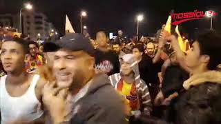 فرحة جماهير الترجي في شوارع العاصمة التونسية
