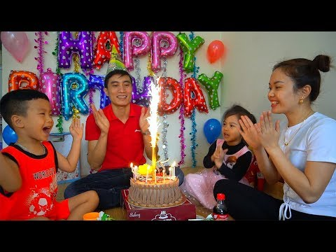 Xxx Mp4 Happy Birthday To Daddy With Surprise Gift And Cake From Mommy Anto And Diana Family Fun Kids 3gp Sex