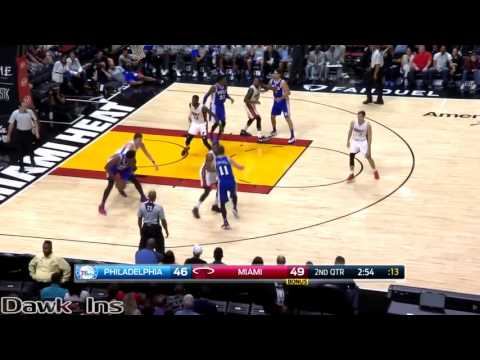 Joel Embiid vs Hassan Whiteside BIG Men Duel 2016 10 21   Whiteside With 15, Embiid With 18 Pts!