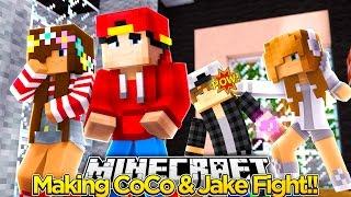 Minecraft Adventure - COCO & JAKE HAVE A MASSIVE FIGHT!!!