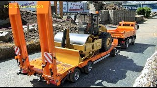 awesome rc construction machinery in action! trucks, tractors, excavator and more!
