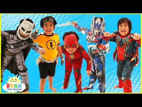 Kids Costume Runway Show Pretend Play with Disney Superheroes Pj Masks Rusty Rivets